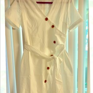 Never worn Summer white dress Zara free people